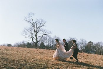 bride outside   JoPhoto  Townsend Tennessee
