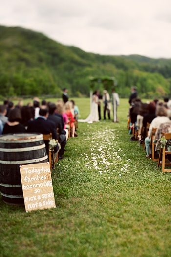 ceremony Asheville Wedding Marissa Joy Photography via Mountainside Bride