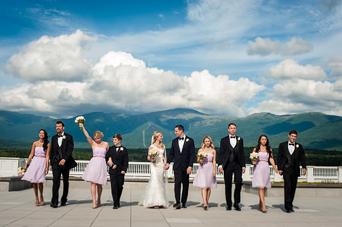 bridal party | Photography by AMW Studios | see more on MountainsideBride.com
