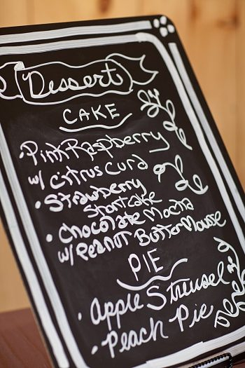 chalkboard wedding Asheville Wedding Marissa Joy Photography via Mountainside Bride