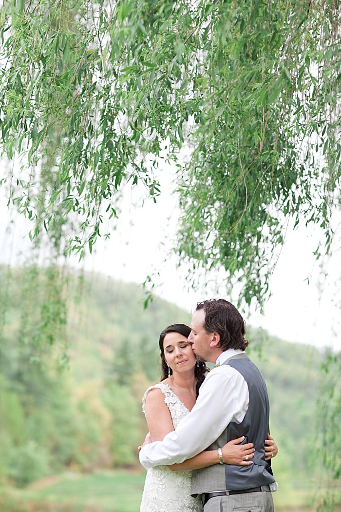 asheville bride and Groom Asheville Wedding Marissa Joy Photography via Mountainside Bride