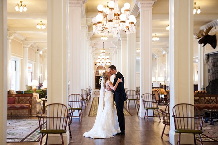 elegant bride and groom in the hotel | Photography by AMW Studios | see more on MountainsideBride.com
