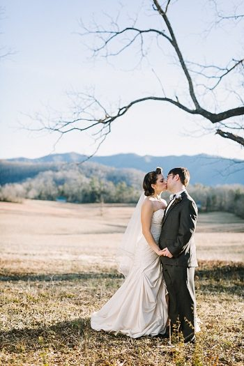 bride and groom outside   JoPhoto  Townsend Tennessee