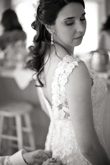 lace wedding gown Asheville Wedding Marissa Joy Photography via Mountainside Bride