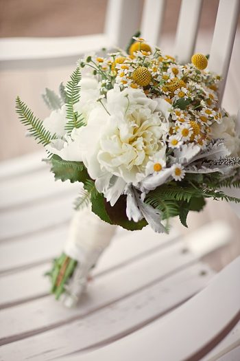 casual elegance wedding bouquet  Asheville Wedding Marissa Joy Photography via Mountainside Bride