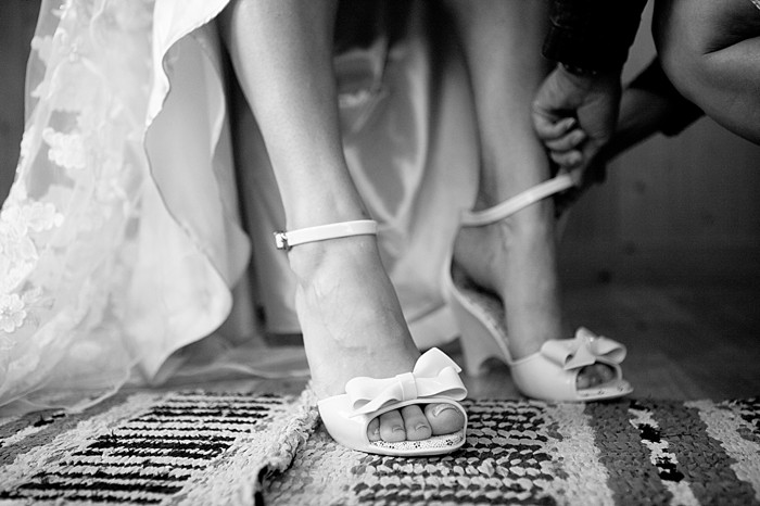 wedding shoes Asheville Wedding Marissa Joy Photography via Mountainside Bride