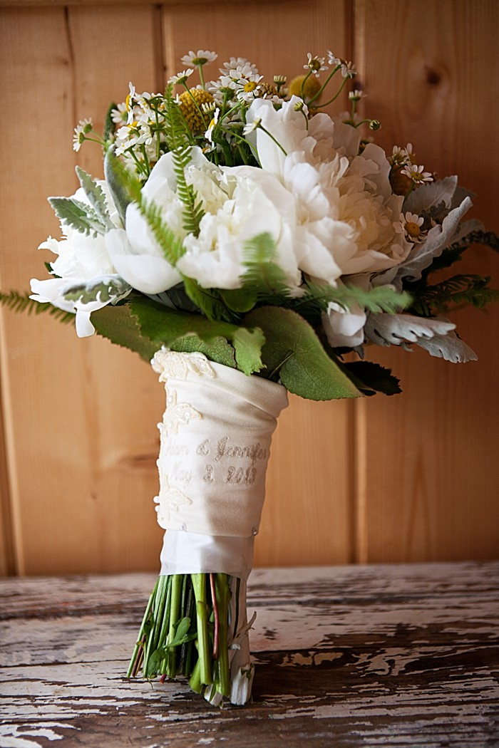 gorgeous white wedding bouquet Asheville Wedding Marissa Joy Photography via Mountainside Bride