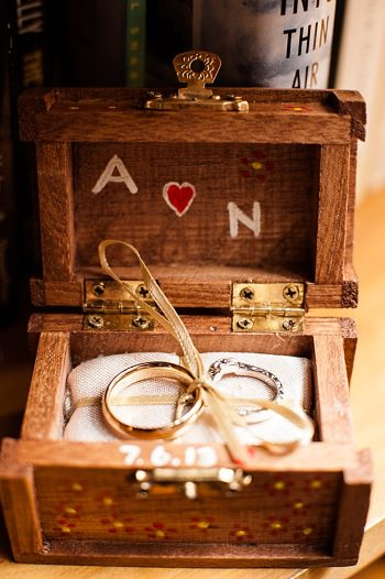 rustic ring box | Photography by AMW Studios | see more on MountainsideBride.com
