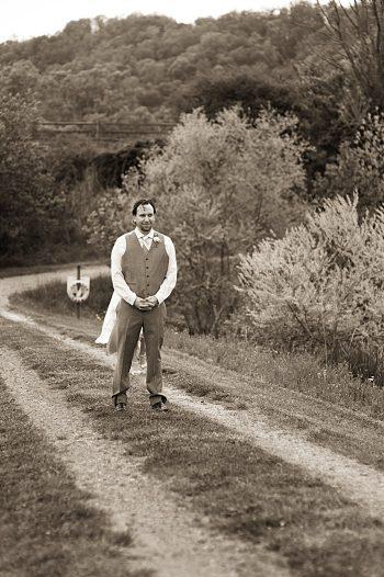 first look Asheville Wedding Marissa Joy Photography via Mountainside Bride
