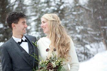 Lake Louise ski resort wedding | Dibble Photography