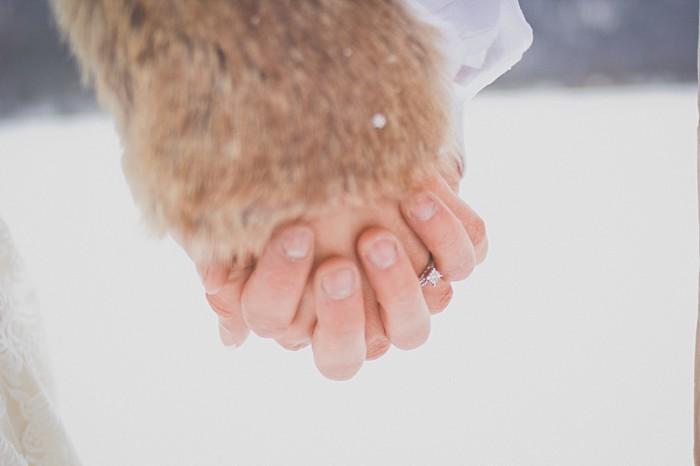 Snowy Winter Wedding Inspiration | Montana |Kelly Spurlock