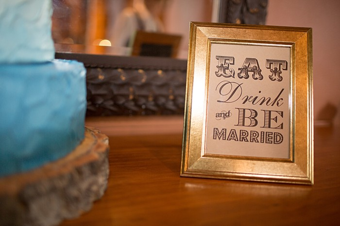 Eat Drink and be Married sign | Banff Wedding by Just for You Photography