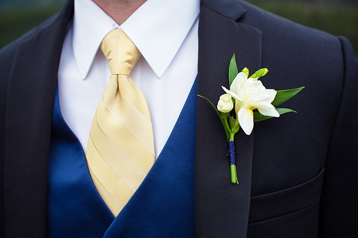 navy vest with pale yellow tie| Banff Wedding by Just for You Photography