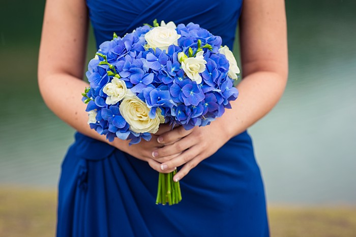 pretty blue and white bouquet| Banff Wedding by Just for You Photography