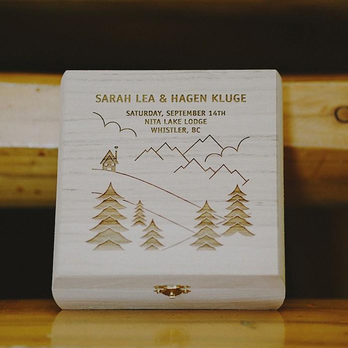 custom ring box | Whistler wedding | Tomasz Wagner
