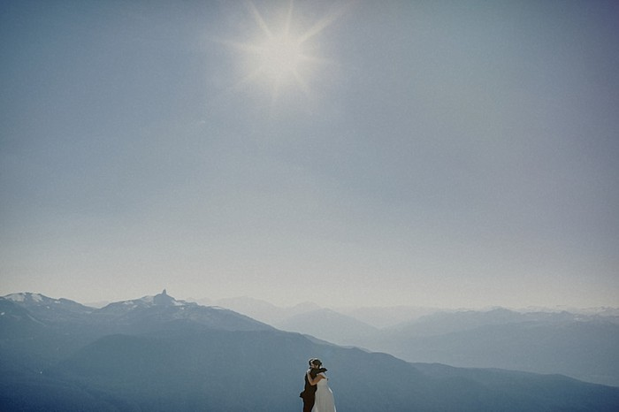 sun flare | Whistler wedding | Tomasz Wagne