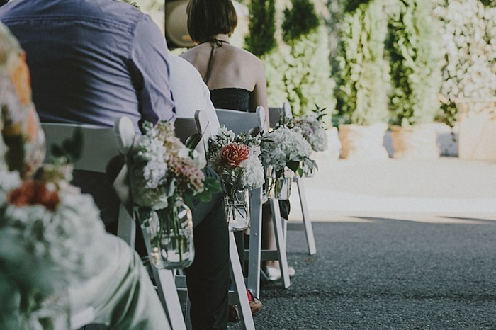 aisle markers| Whistler wedding | Tomasz Wagne