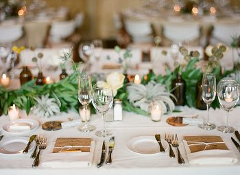 romantic table setting Devils Thumb Ranch Wedding Laura Murray