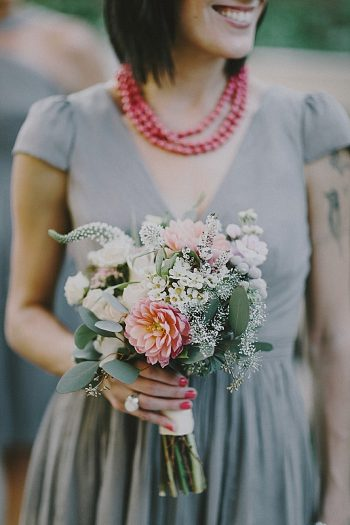 coral bouquet| Whistler wedding | Tomasz Wagne