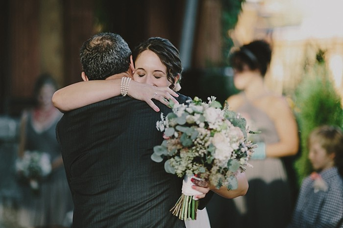 bride father hug | Whistler wedding | Tomasz Wagne
