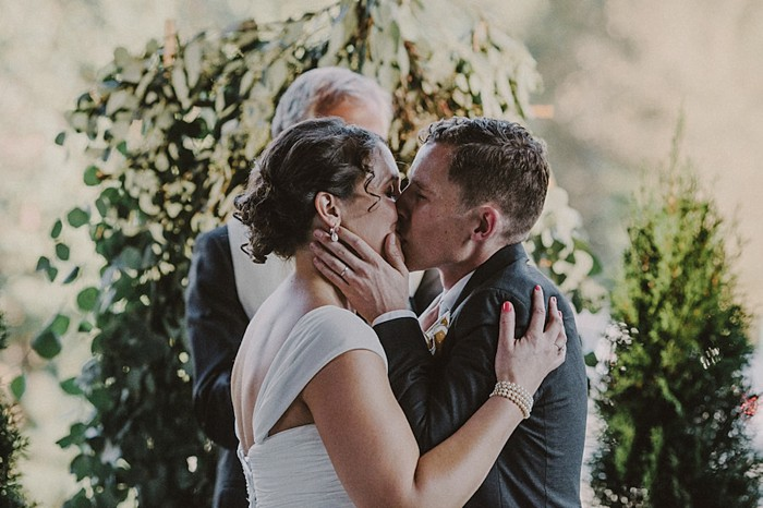 wedding kiss| Whistler wedding | Tomasz Wagne