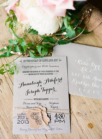 romantic invitations Devils Thumb Ranch Wedding Laura Murray