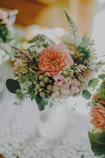 coral bouquet | Whistler wedding | Tomasz Wagner