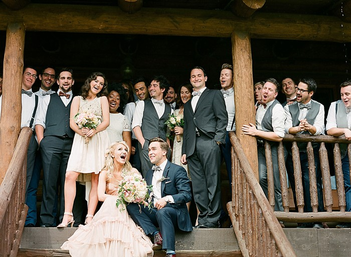 portraits at the cabin Devils Thumb Ranch Wedding Laura Murray