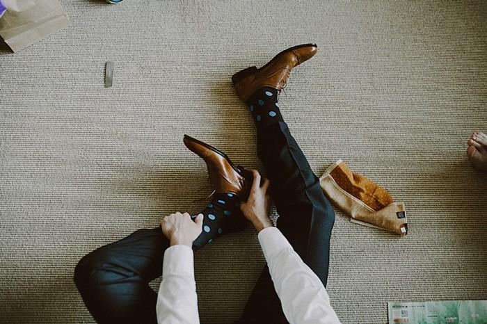 groom shoes whistler cabin | Whistler wedding | Tomasz Wagne