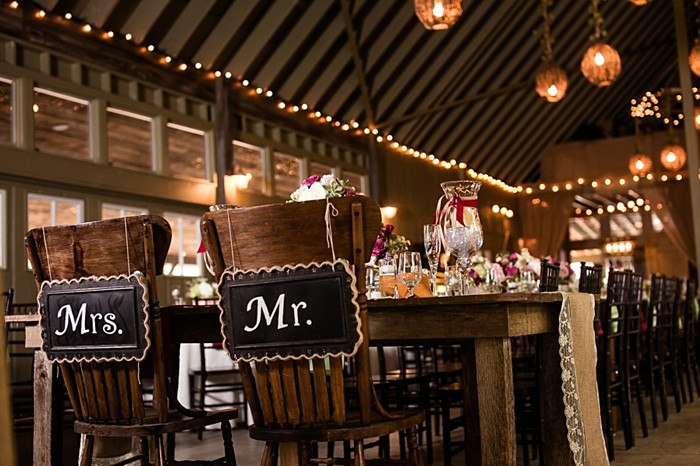 mr + Mrs chalkboard chair backs western North Carolina handmade wedding by Shutter Love Photography