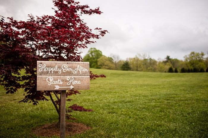 wooden ceremony sign western North Carolina handmade wedding by Shutter Love Photography