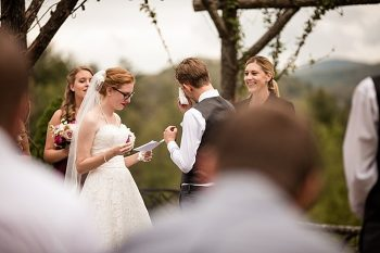 ceremony western North Carolina handmade wedding by Shutter Love Photography