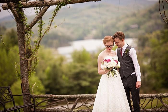 portrait western North Carolina handmade wedding by Shutter Love Photography
