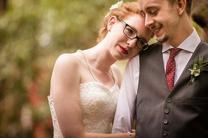 bride with glasses western North Carolina handmade wedding by Shutter Love Photography