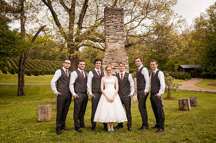 portraits by an old chimney western North Carolina handmade wedding by Shutter Love Photography