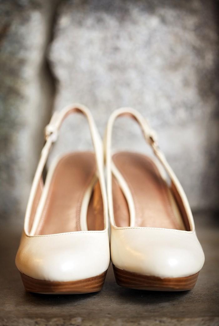 modern ivory wedding shoes | Snowbird Utah Wedding Logan Walker Photography