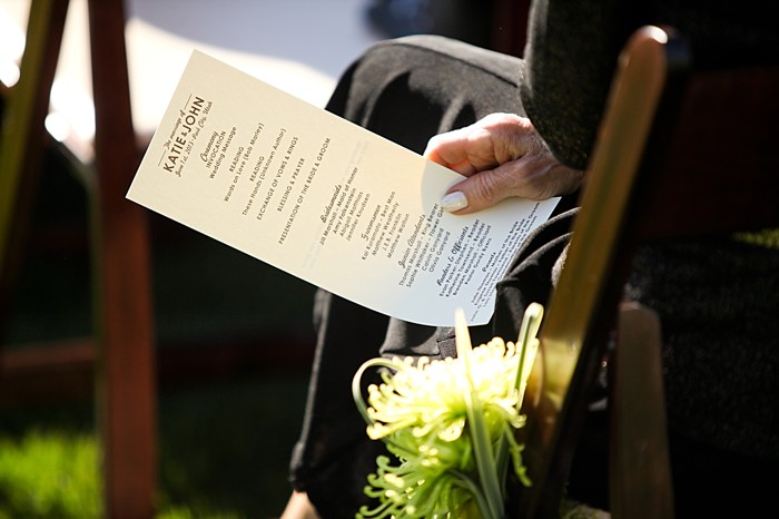 ceremony program   Deer Valley Utah Wedding   Pepper Nix Photography