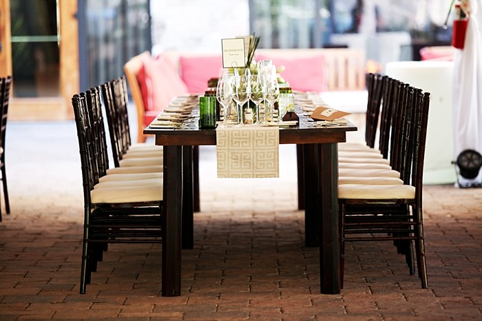 rectangle reception table with green centerpieces    Deer Valley Utah Wedding   Pepper Nix Photography