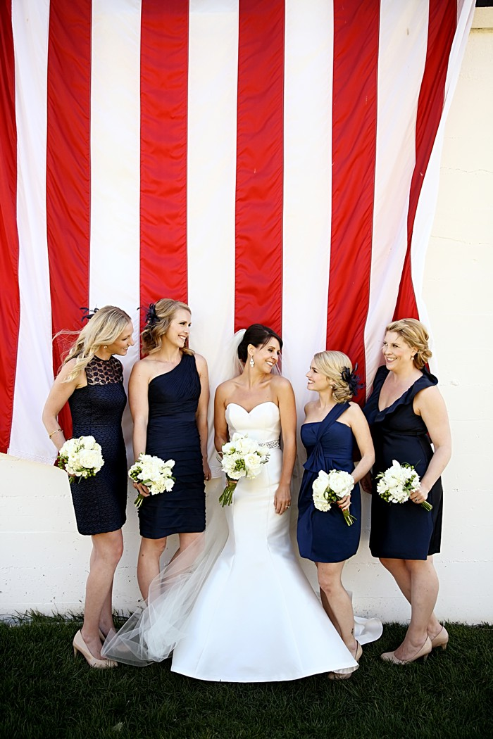 Navy Bridesmaid dresses | Deer Valley Utah Wedding | Pepper Nix Photography
