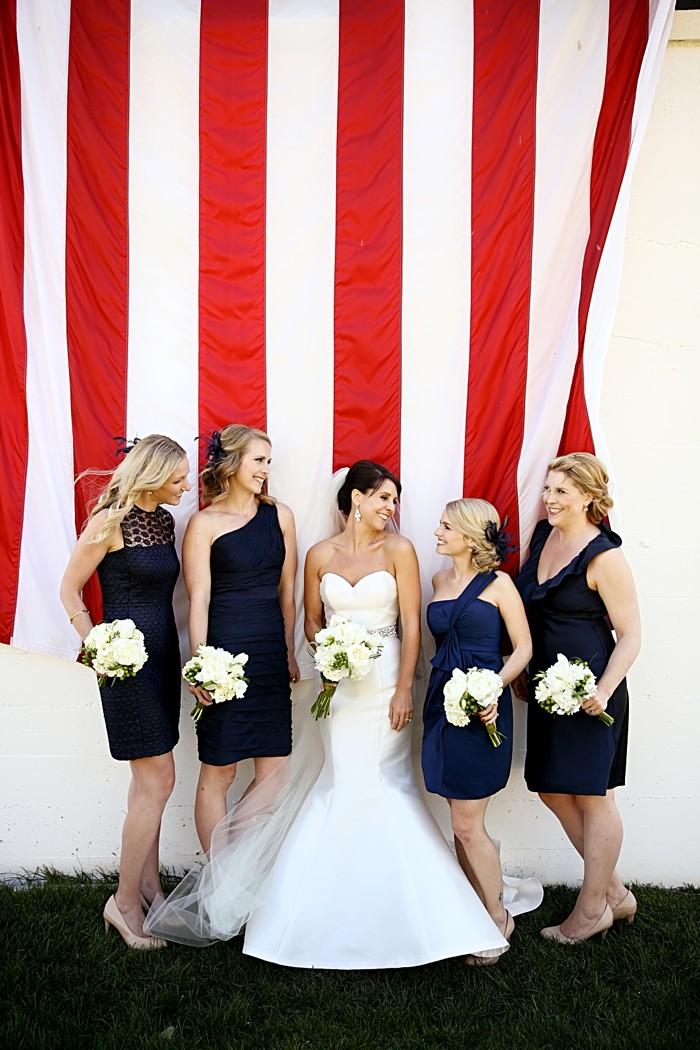 Navy Bridesmaid dresses | Deer Valley Utah Wedding | Pepper Nix Photography