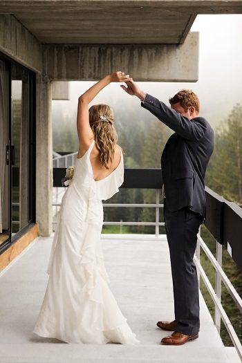 first look | Snowbird Utah Wedding Logan Walker Photography