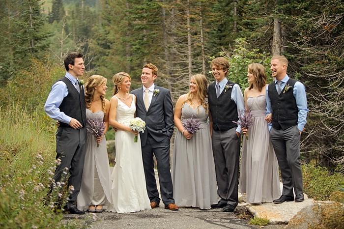 bridal party | Snowbird Utah Wedding Logan Walker Photography