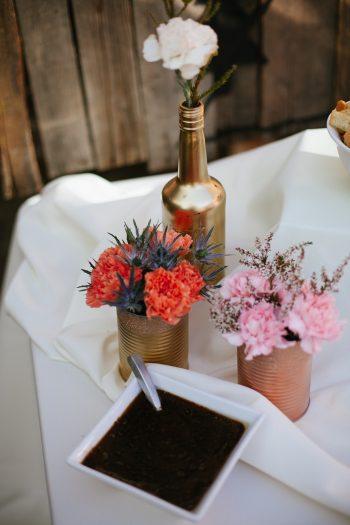 DIY centerpieces | Park City Luxury Home Wedding