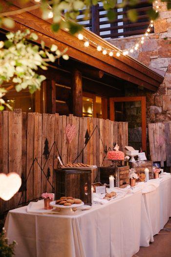 dessert table | Park City Luxury Home Wedding