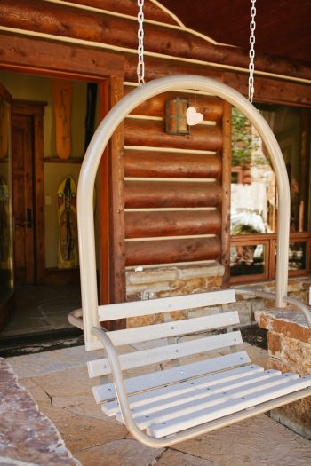 porch seat | Park City Luxury Home Wedding