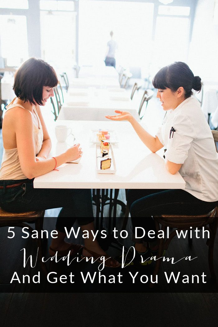 Strategies To Deal With Wedding Drama Title