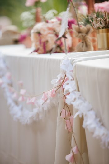 table garland | Park City Luxury Home Wedding