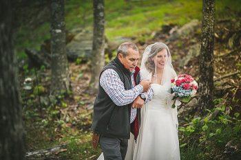 ceremony   Forest wedding in western North Carolina   Tesar Photography