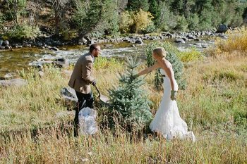 ceremony tree planting | steamboat springs wedding | Andy Barnhart