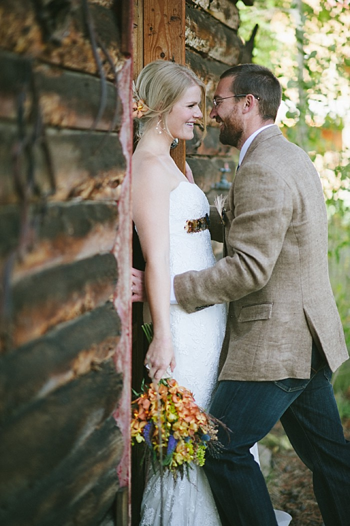 portrait kiss | steamboat springs wedding | Andy Barnhart